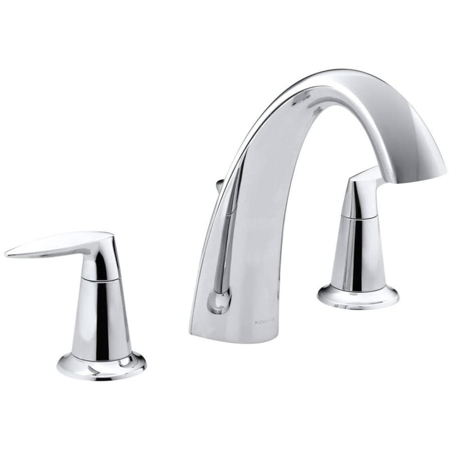 kohler alteo polished chrome 2 handle 4 in centerset bathroom faucet