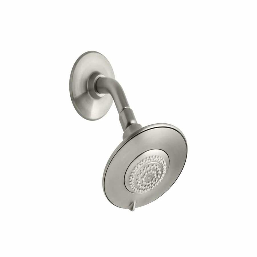 KOHLER Alteo 5.6875-in 2.0-GPM (7.6-LPM) Vibrant Brushed Nickel 3-Spray WaterSense Showerhead