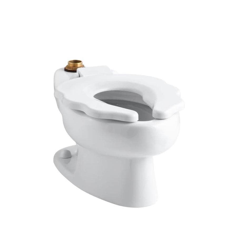 KOHLER Primary Standard Height White 10 Rough-In Elongated Toilet Bowl