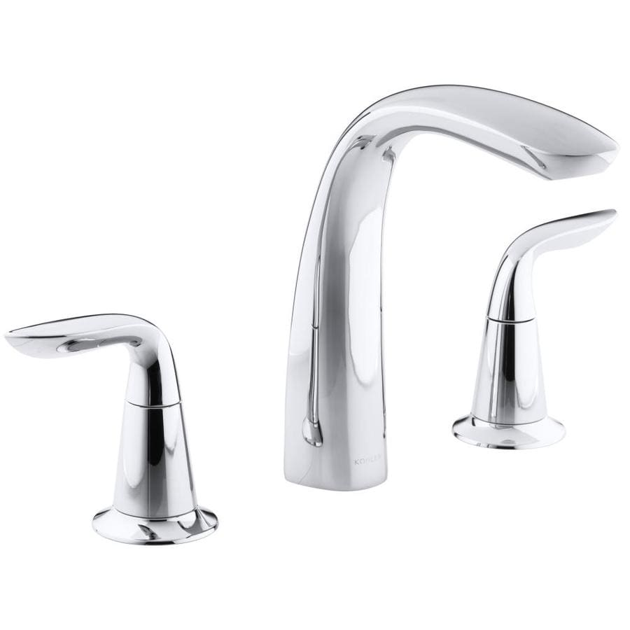 Shop Kohler Refinia Polished Chrome 2 Handle Deck Mount Bathtub Faucet At
