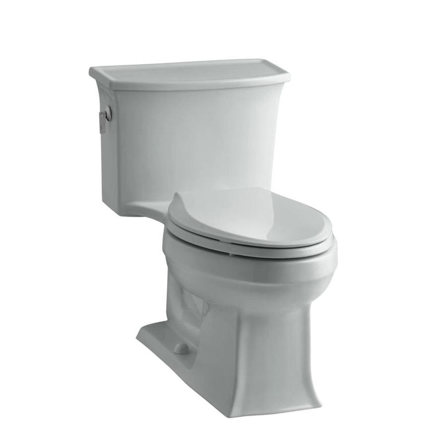 KOHLER Archer Ice Gray 1.28-GPF (4.85-LPF) 12 Rough-In WaterSense Elongated 1-Piece Chair Height Rear Outlet Toilet