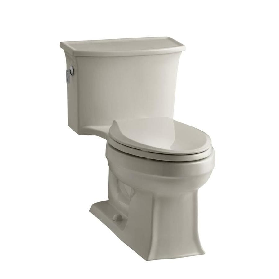 KOHLER Archer Sandbar WaterSense Labeled  Elongated Chair Height 1-piece Toilet 12-in Rough-In Size
