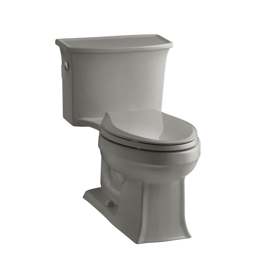 KOHLER Archer 1.28-GPF Cashmere WaterSense Elongated Chair Height 1-Piece Toilet