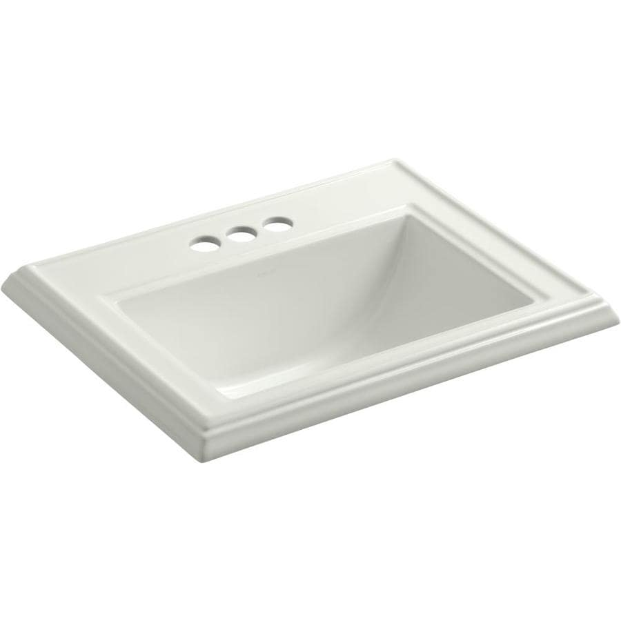 KOHLER Memoirs Dune Drop-in Rectangular Bathroom Sink with Overflow