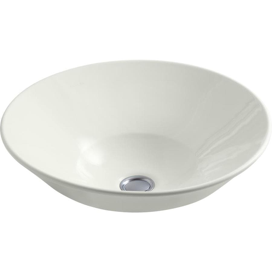 KOHLER Conical Bell Dune Vessel Round Bathroom Sink