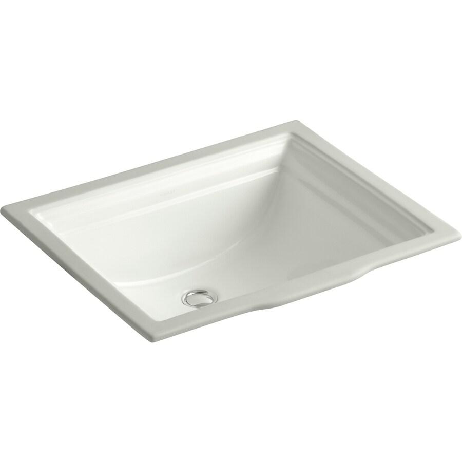 KOHLER Memoirs Dune Undermount Rectangular Bathroom Sink with Overflow