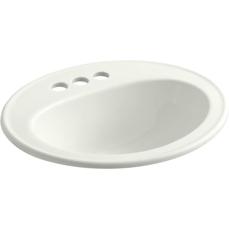 KOHLER Pennington Dune Drop-in Oval Bathroom Sink with Overflow