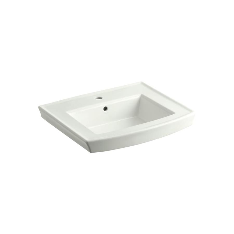 KOHLER Archer 23.9375-in L x 20.4375-in W Dune Vitreous China Rectangular Pedestal Sink Top