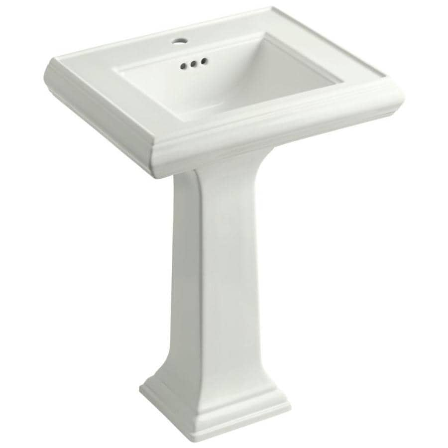 KOHLER Portrait 34.375-in H Dune Fire Clay Pedestal Sink