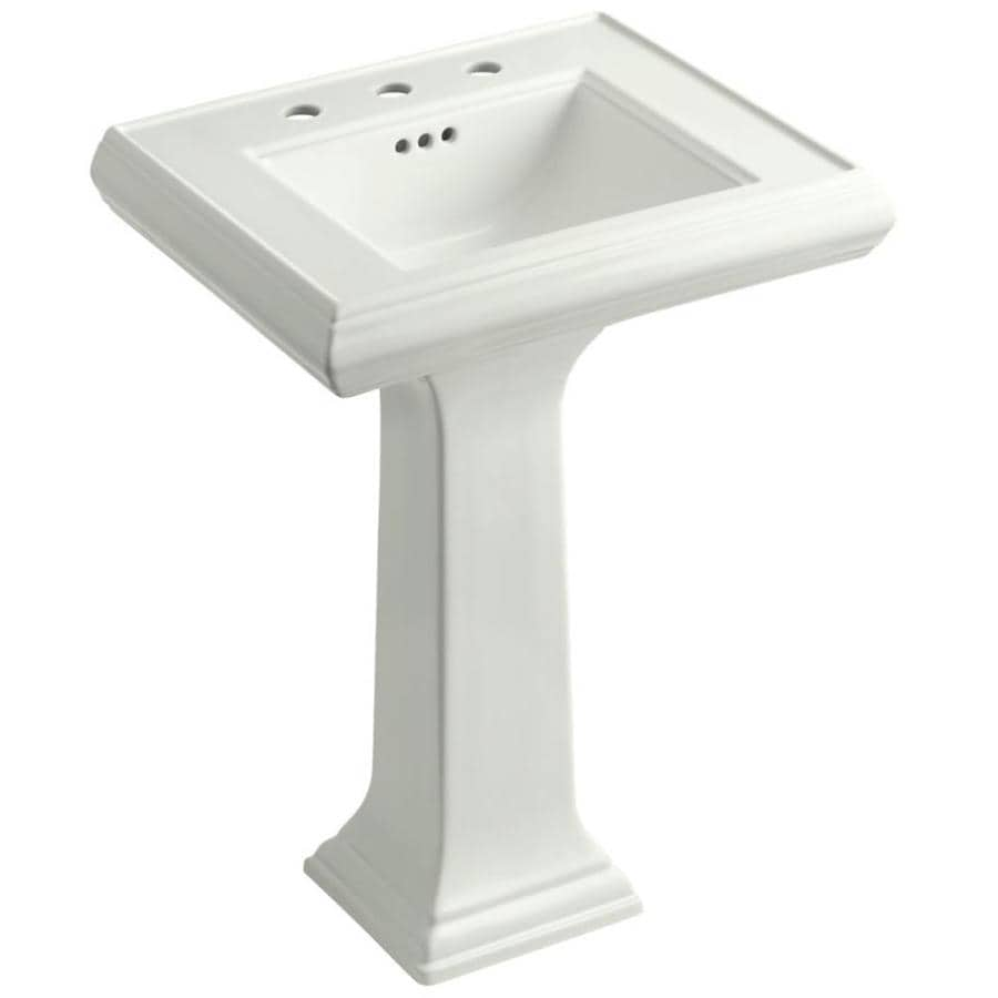 Shop KOHLER Portrait 34.375-in H Dune Fire Clay Pedestal Sink at Lowes ...