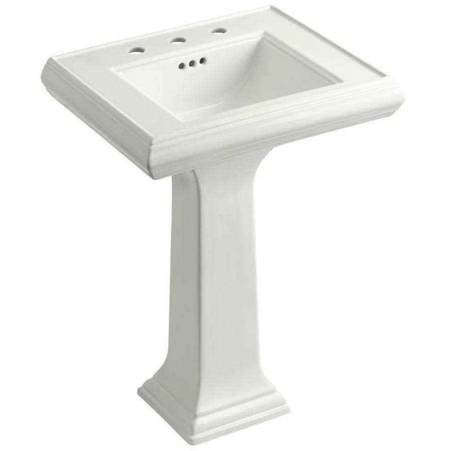 Kohler Memoirs 24 Pedestal Sink : Shop KOHLER Portrait 34.375-in H Dune Fire Clay Pedestal Sink at Lowes ...