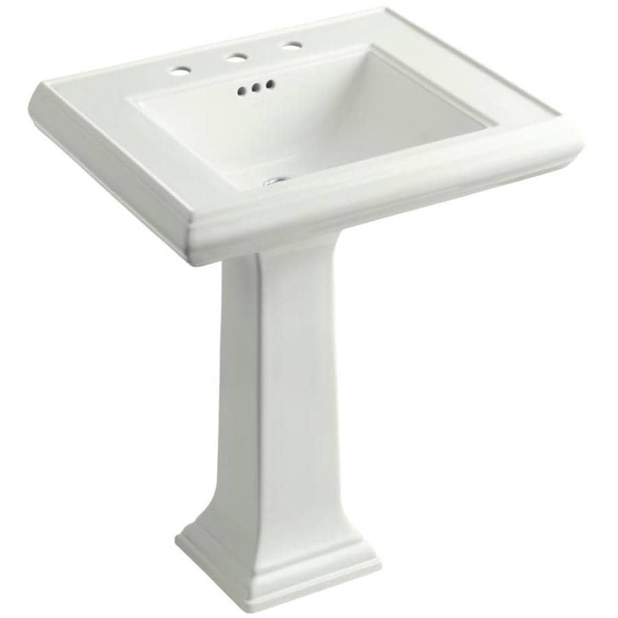KOHLER Memoirs 34.375-in H Dune Fire Clay Pedestal Sink