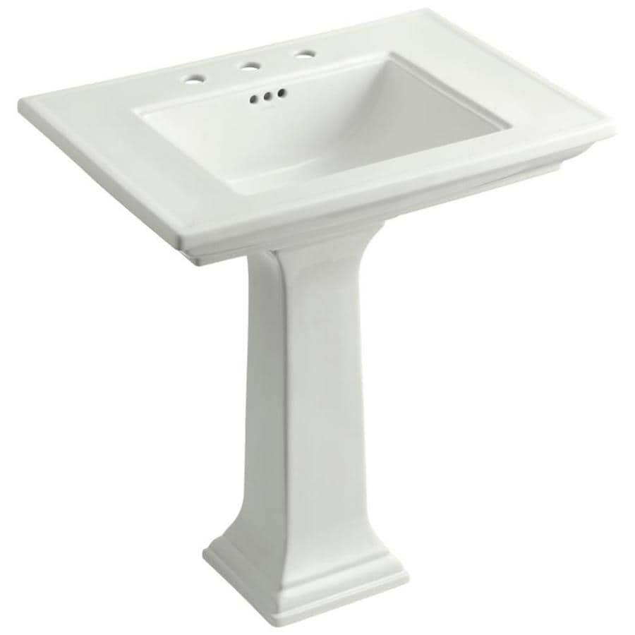 KOHLER Memoirs 34.75-in H Dune Fire Clay Pedestal Sink