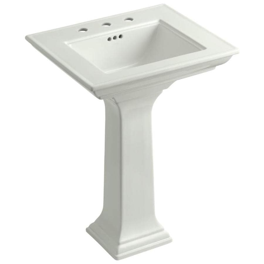KOHLER Memoirs 34.7500-in H Dune Fire Clay Pedestal Sink