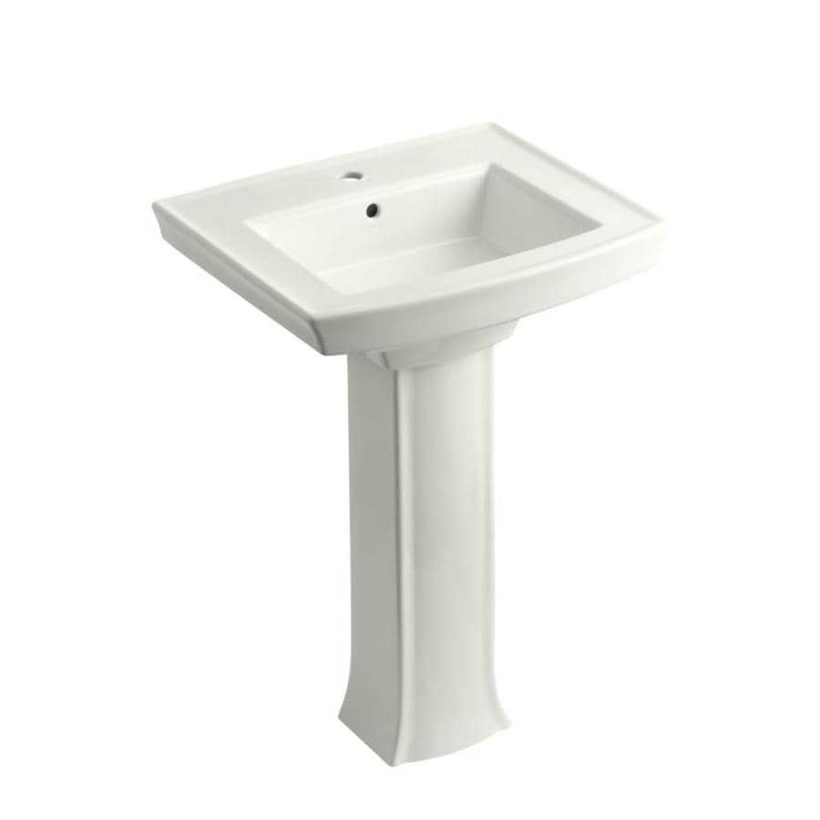 KOHLER Archer 35.25-in H White Vitreous China Pedestal Sink