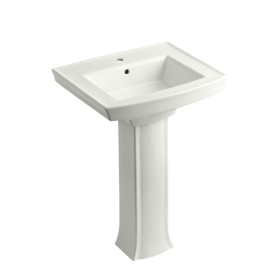 ... Archer 35.25-in H White Vitreous China Pedestal Sink at Lowes.com