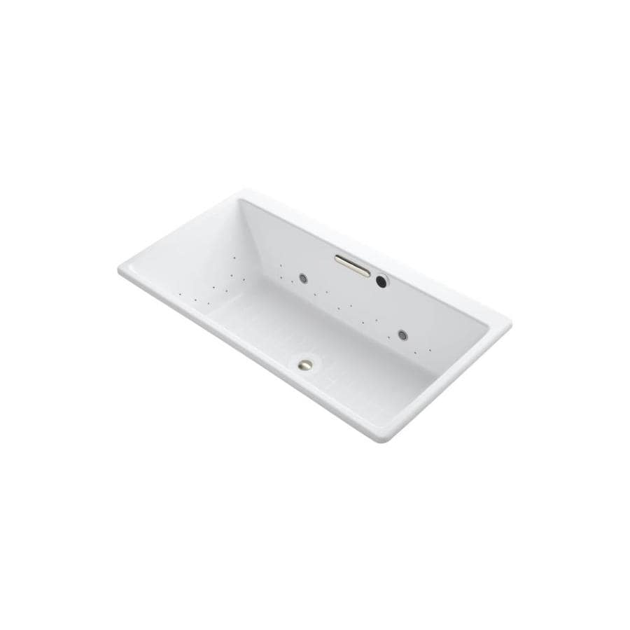 KOHLER Reve 66.9375-in L x 36-in W x 19.0625-in H White Acrylic Rectangular Drop-In Air Bath