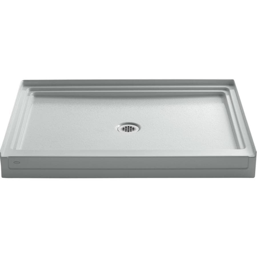 KOHLER Tresham Ice Grey Acrylic Shower Base (Common: 36-in W x 48-in L; Actual: 36-in W x 48-in L)