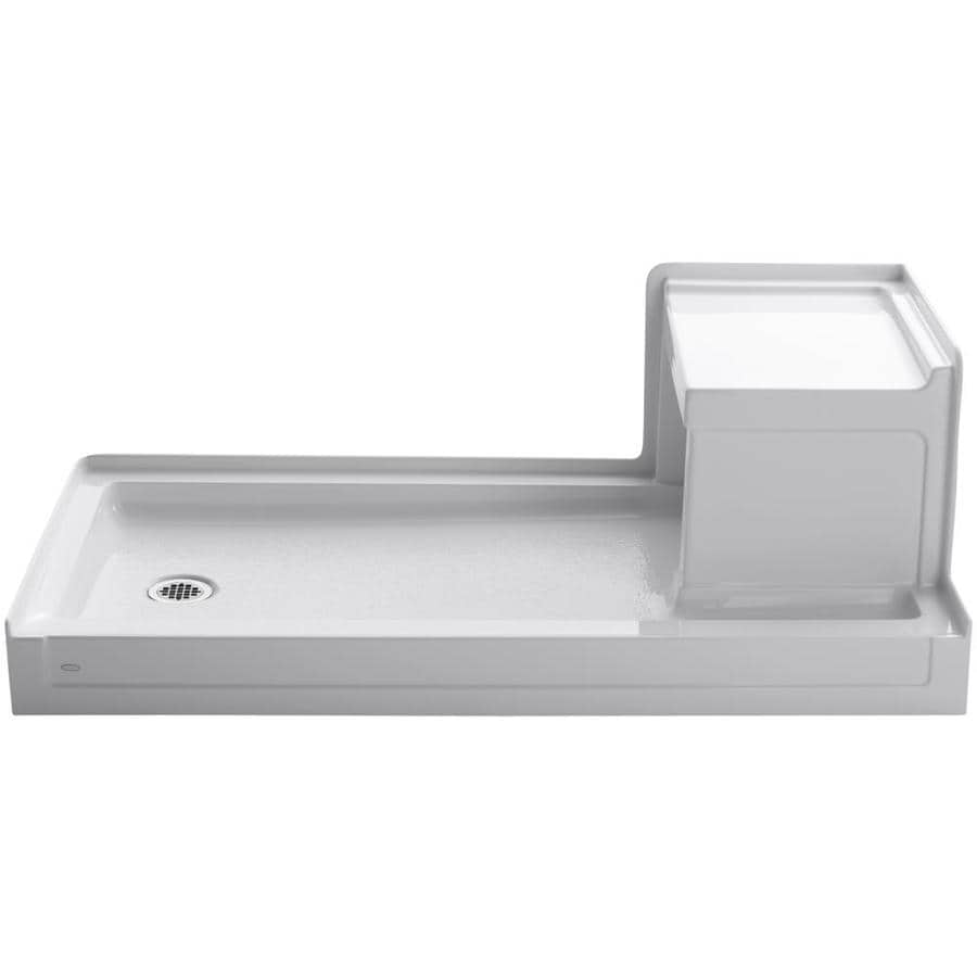 KOHLER Tresham White Acrylic Shower Base (Common: 32-in W x 60-in L; Actual: 32-in W x 60-in L)