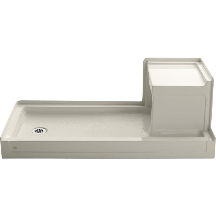 KOHLER Tresham Almond Acrylic Shower Base (Common: 32-in W x 60-in L; Actual: 32-in W x 60-in L)