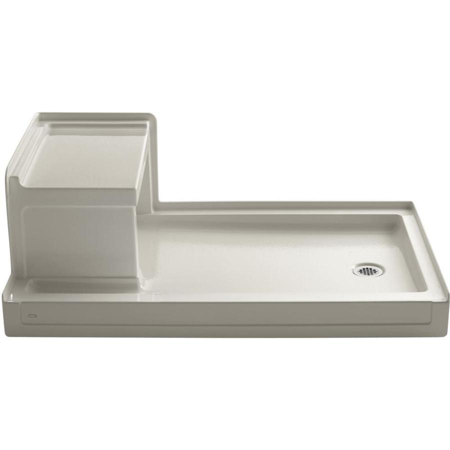 KOHLER Tresham Sandbar Acrylic Shower Base (Common: 36-in W x 60-in L; Actual: 36-in W x 60-in L)