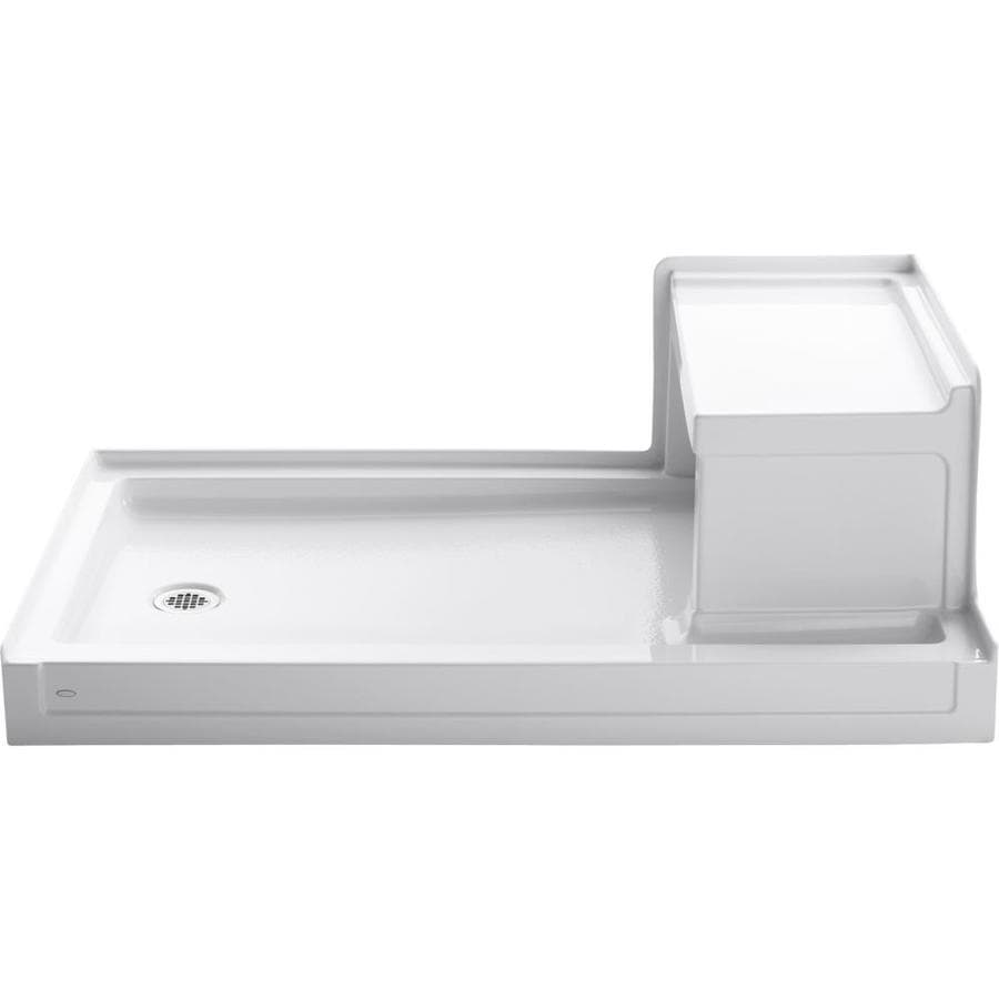 KOHLER Tresham White Acrylic Shower Base (Common: 36-in W x 60-in L; Actual: 36-in W x 60-in L)