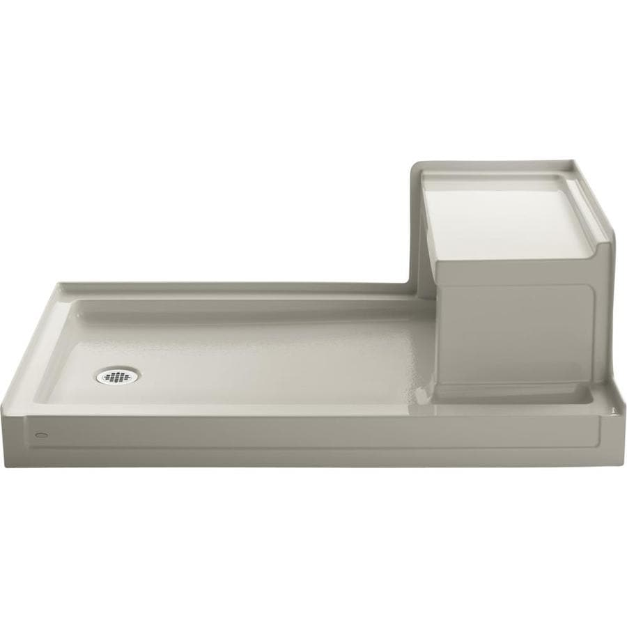KOHLER Tresham Sandbar Acrylic Shower Base (Common: 36-in W x 60-in L; Actual: 36-in W x 60-in L)