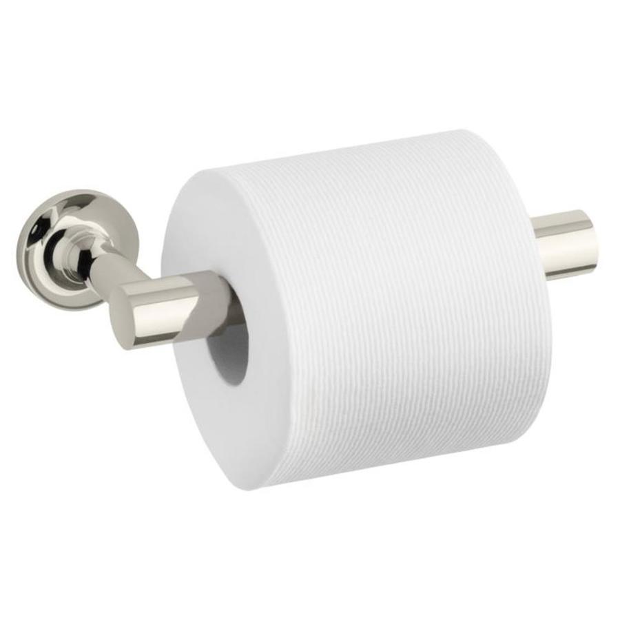 KOHLER Purist Vibrant Polished Nickel Surface Mount Pivot Toilet Paper Holder