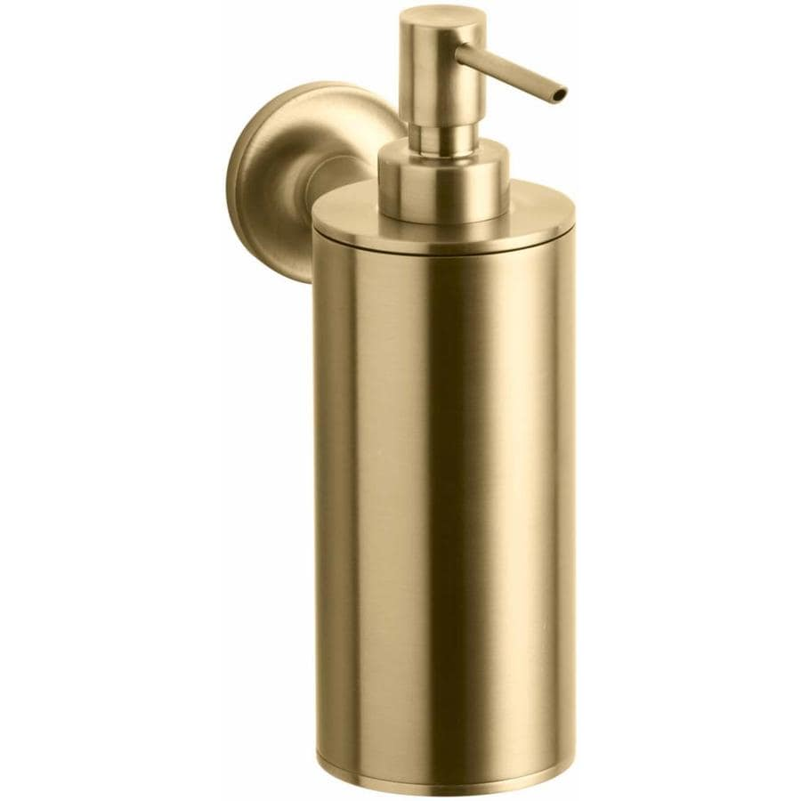 Shop kohler purist vibrant moderne brushed gold soap and for Brushed gold bathroom accessories