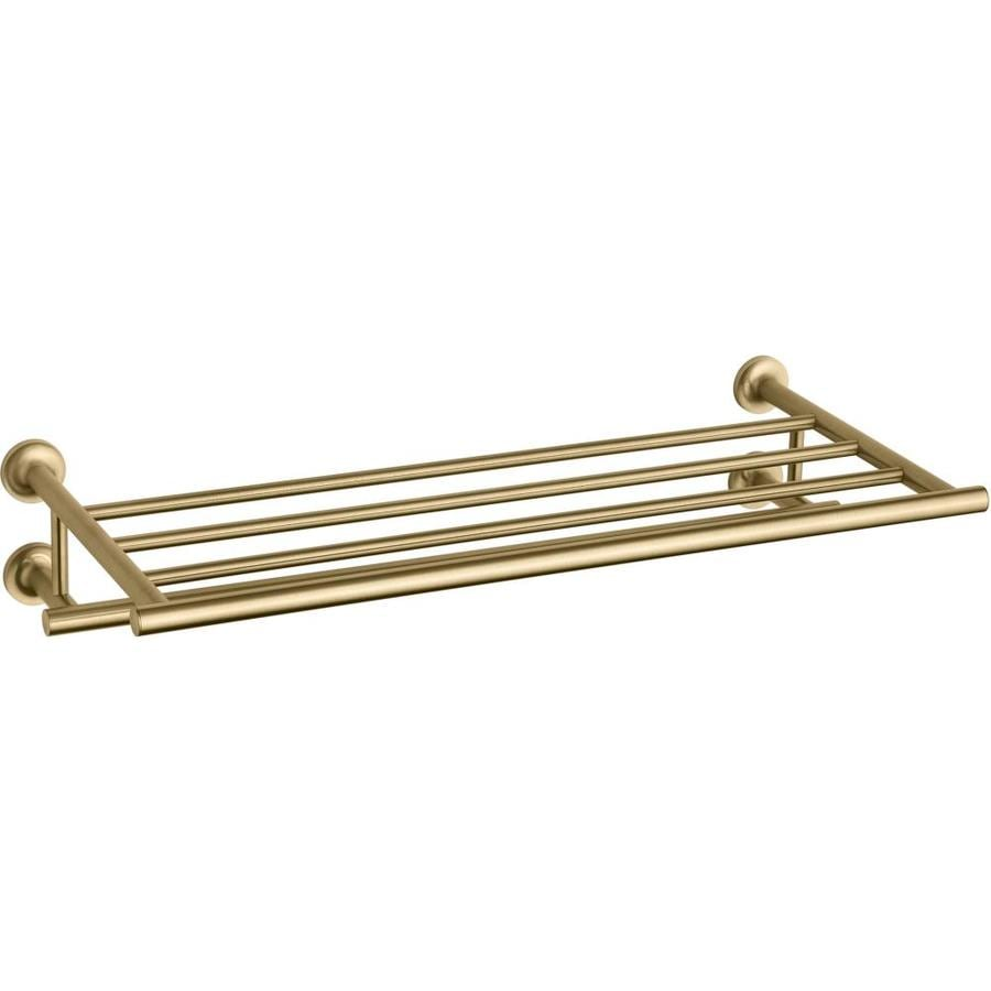 KOHLER Purist Vibrant Moderne Brushed Gold Metal Bathroom Shelf