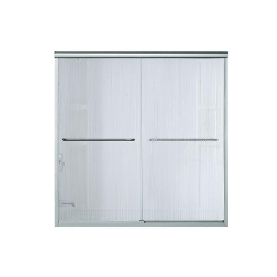 Sterling Finesse 59.625-in W x 58.0625-in H Silver Frameless Bathtub Door