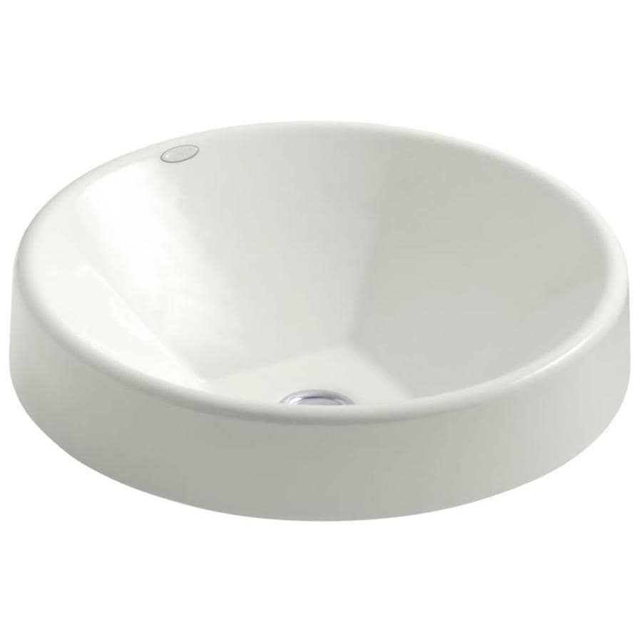 Shop kohler inscribe dune cast iron drop in round bathroom sink at Kohler cast iron bathroom sink