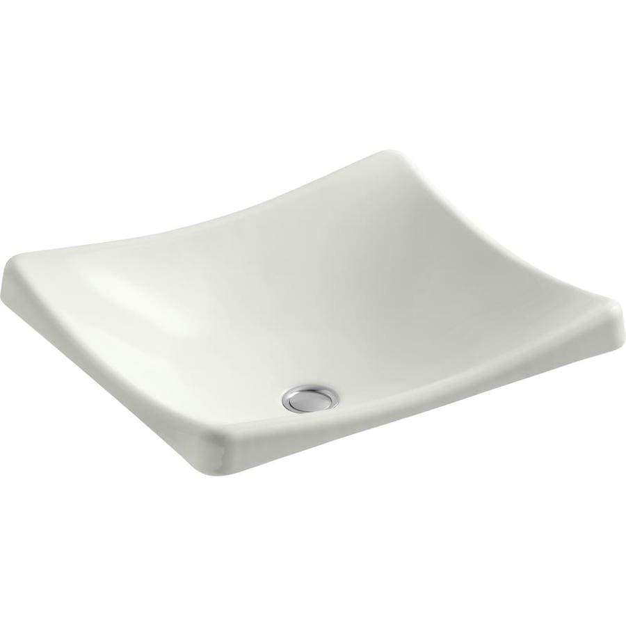 Shop Kohler Demilav Dune Cast Iron Vessel Rectangular Bathroom Sink At
