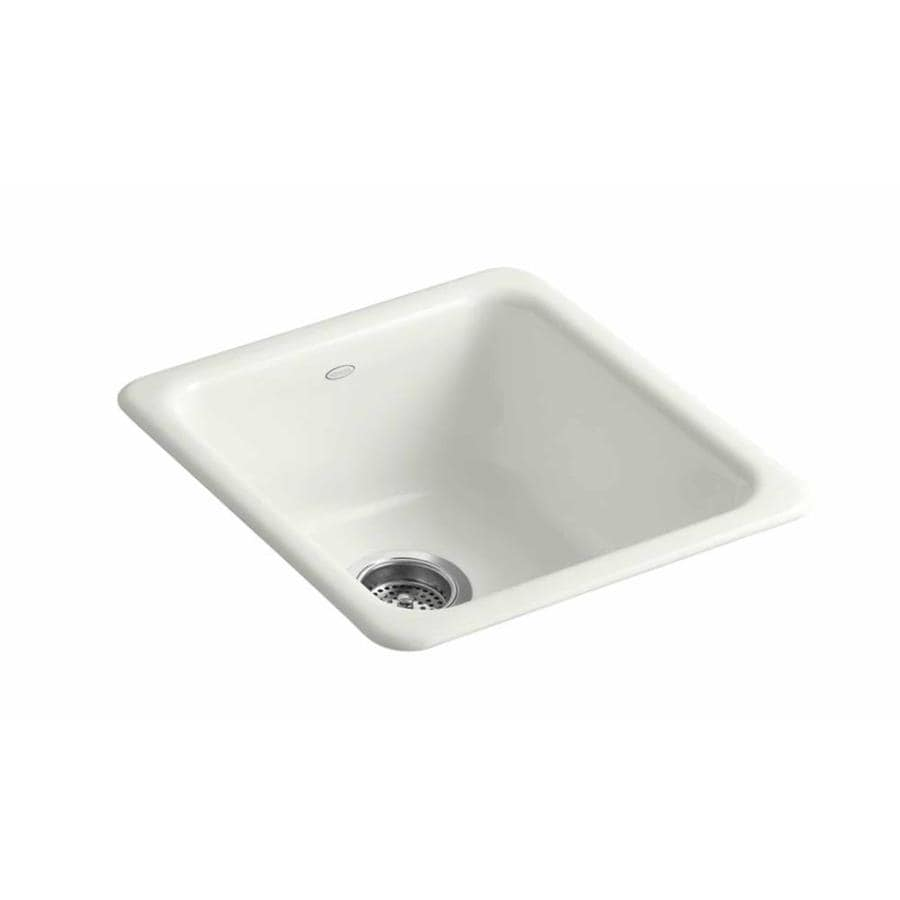 Shop kohler x 17 in dune single basin cast iron for Cast iron sink manufacturers