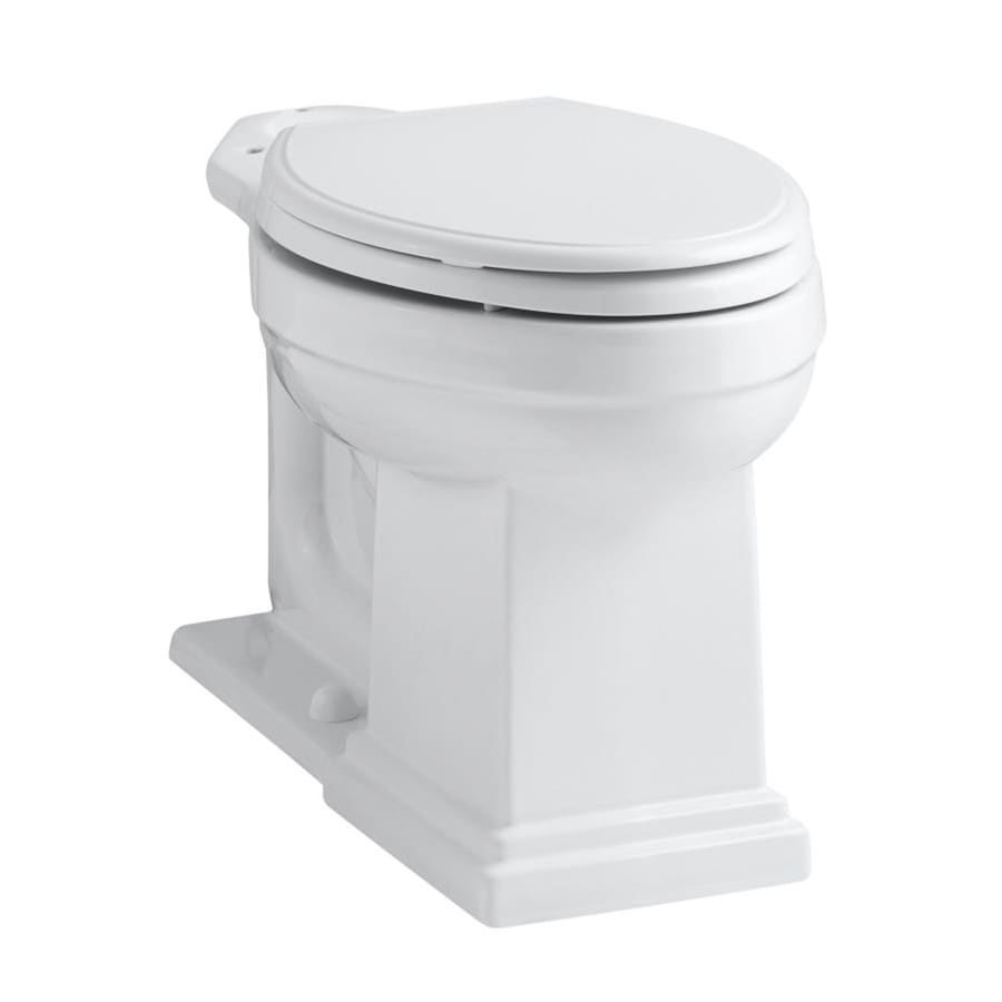 KOHLER Tresham White Elongated Chair Height Toilet Bowl