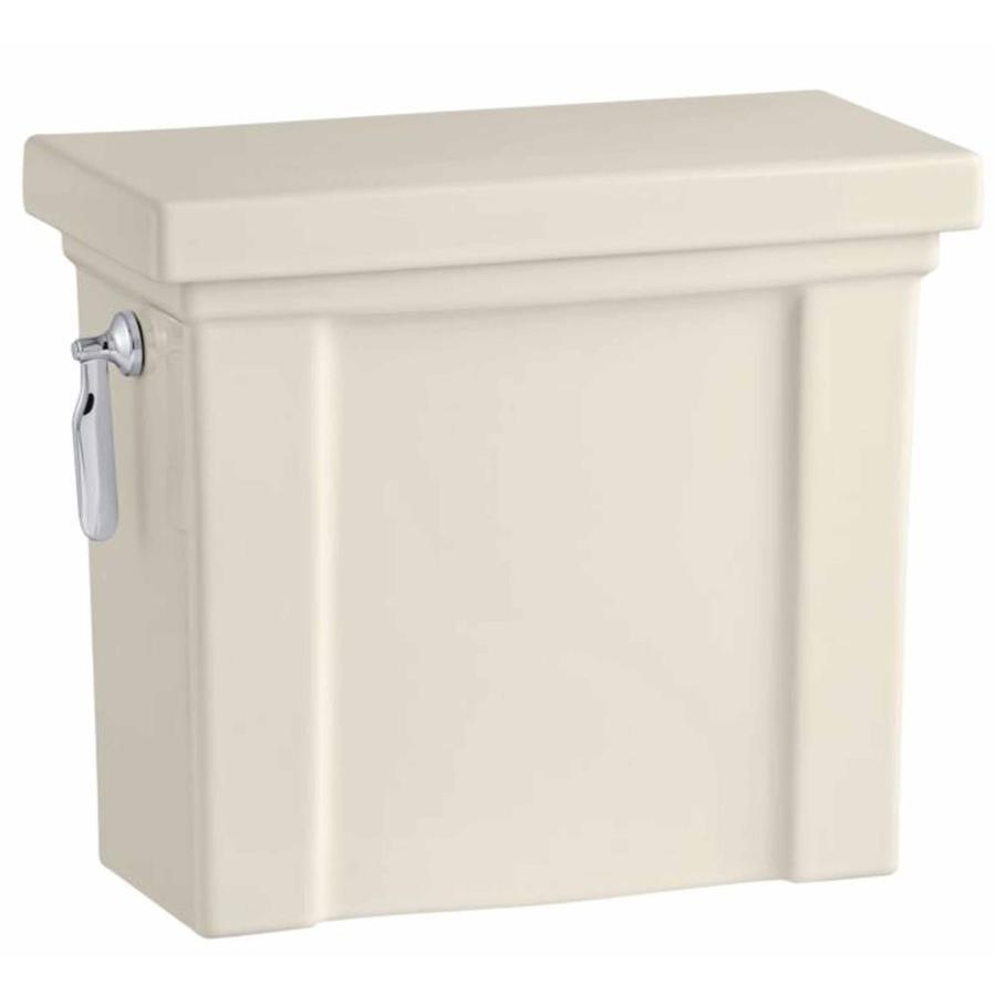 KOHLER Tresham Almond 1.28-GPF Single-Flush High-Efficiency Toilet Tank