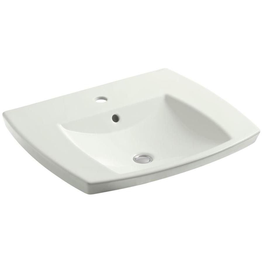 KOHLER Kelston Dune Drop-in Rectangular Bathroom Sink with Overflow