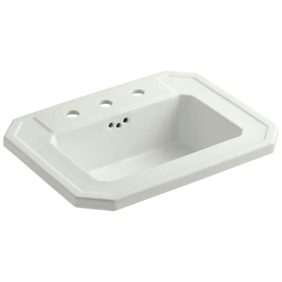 Shop Kohler Kathryn Dune Drop In Rectangular Bathroom Sink At