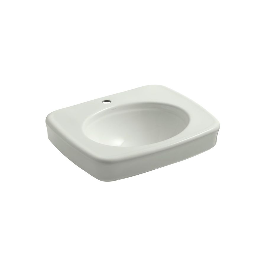 KOHLER Archer 24-in L x 21-in W Dune Vitreous China Rectangular Pedestal Sink Top