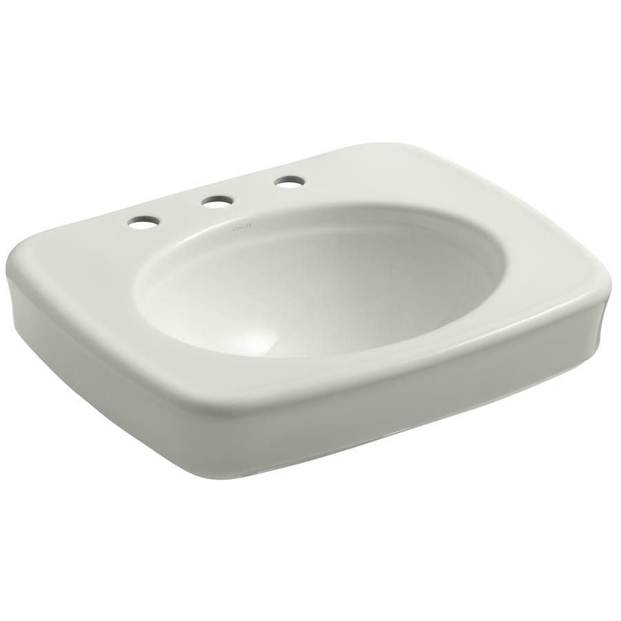 KOHLER Bancroft 24-in L x 21-in W Dune Vitreous China Rectangular Pedestal Sink Top