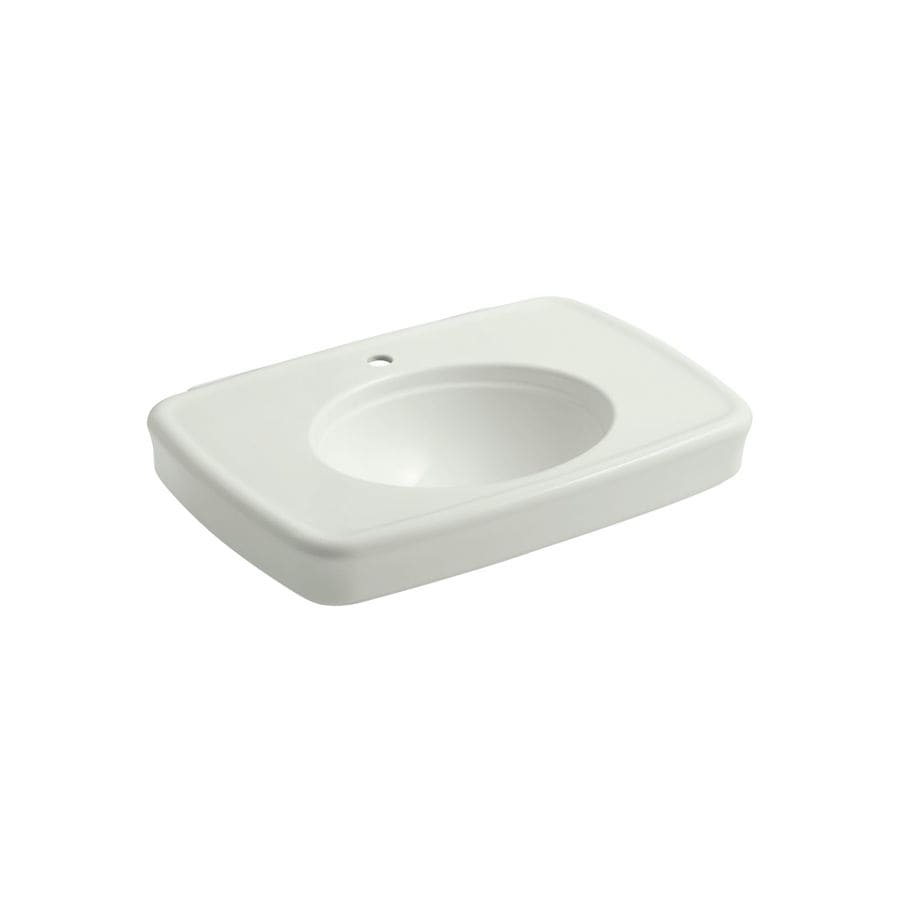 KOHLER Bancroft 30.375-in L x 22.25-in W Dune Fire Clay Rectangular Pedestal Sink Top