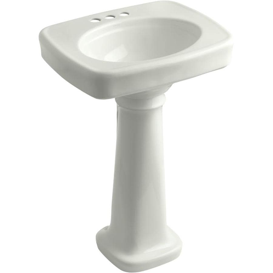 Kohler Pedestal : Shop KOHLER Bancroft 35.25-in H Dune Fire Clay Pedestal Sink at Lowes ...