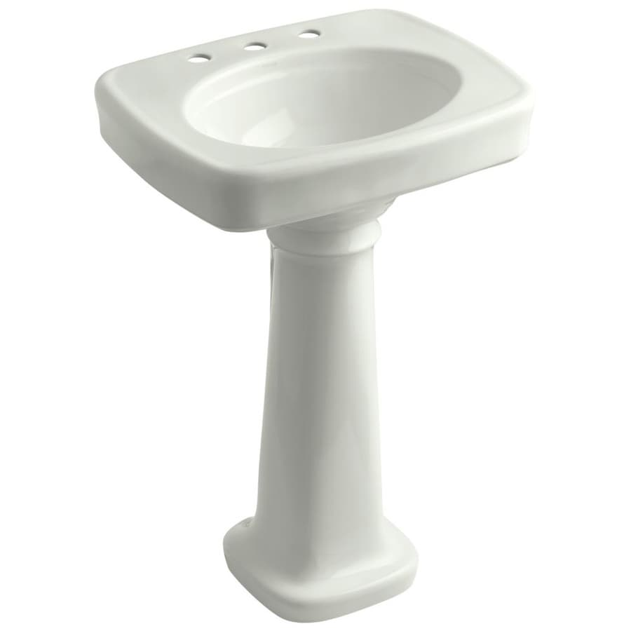 KOHLER Bancroft 35.25-in H Dune Fire Clay Pedestal Sink