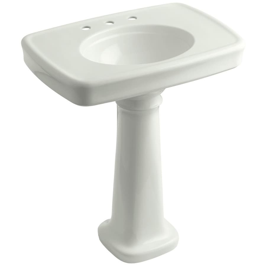 Bancroft Pedestal Sink : Shop KOHLER Bancroft 35.25-in H Dune Vitreous China Pedestal Sink at ...