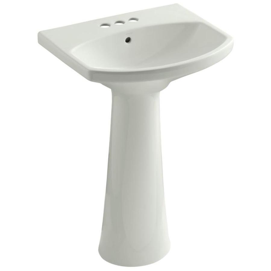 KOHLER Cimarron 34.5-in H Dune Vitreous China Pedestal Sink