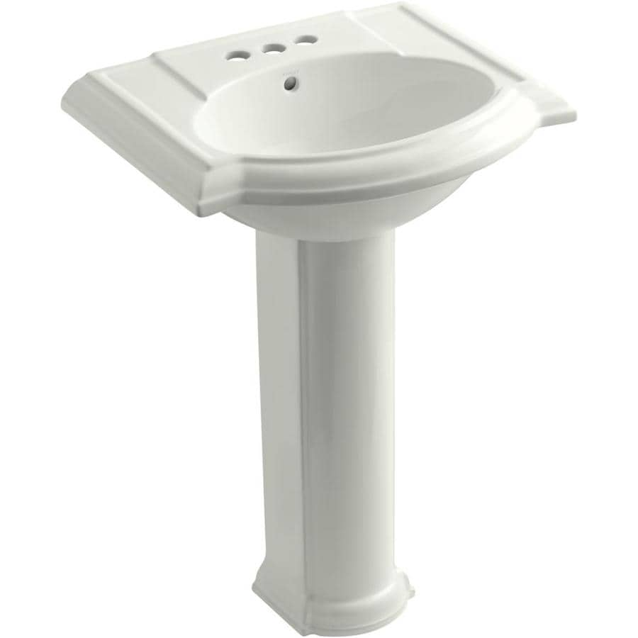 Kohler Pedestal : Shop KOHLER Devonshire 33.5-in H Dune Fire Clay Pedestal Sink at Lowes ...