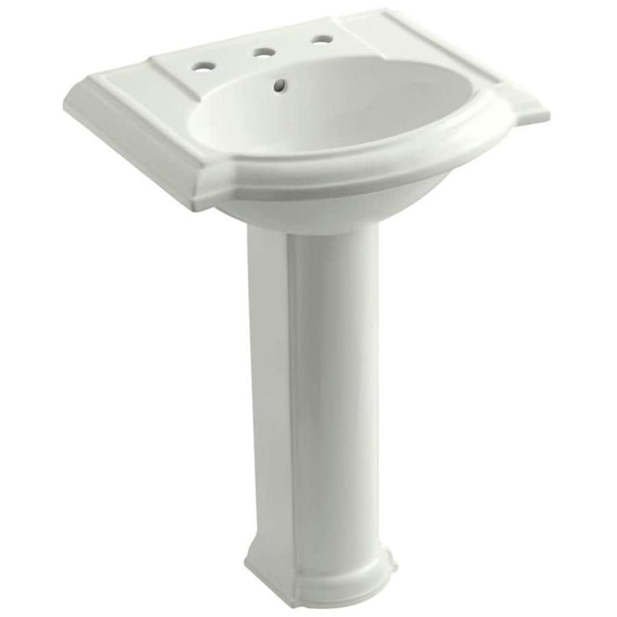 KOHLER Devonshire 33.5-in H Dune Fire Clay Pedestal Sink