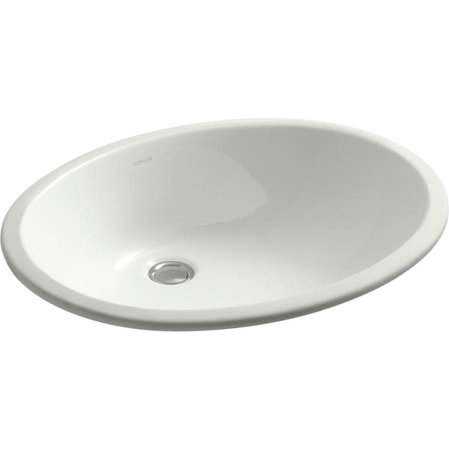 KOHLER Caxton Dune Undermount Oval Bathroom Sink with Overflow