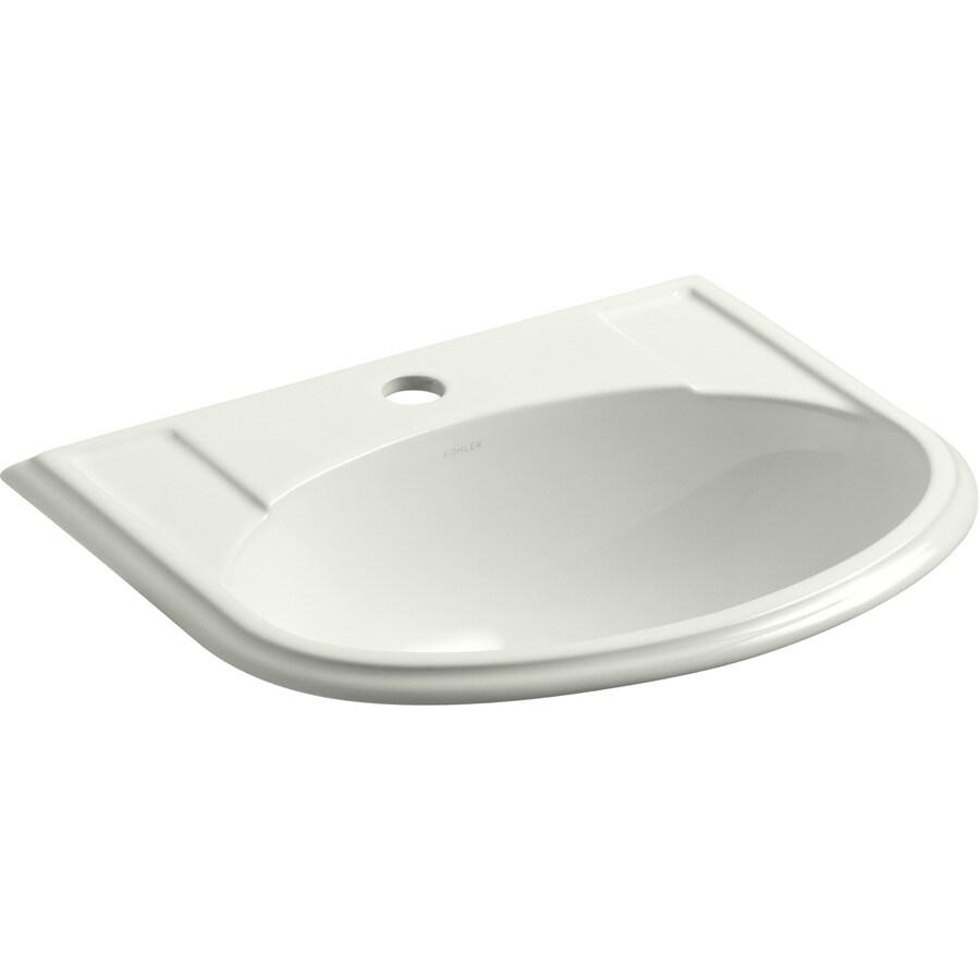 KOHLER Devonshire Dune Drop-in Oval Bathroom Sink with Overflow