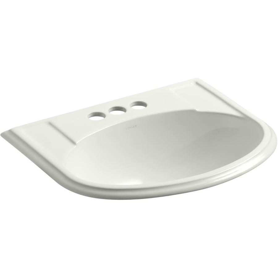 KOHLER Devonshire Dune Drop-in Oval Bathroom Sink with Overflow